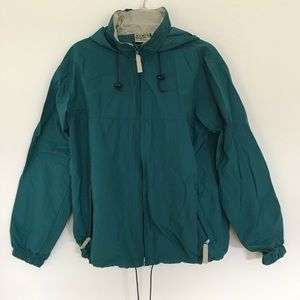Men's LL Bean Hooded Rain Jacket - Medium